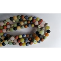 Mixed Stone 10mm Round