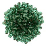 Czech Fire Polish Bead 3mm - Copper Line Emerald (50)