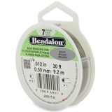 "Beadalon 7 Strand Beading Wire 0.12"" Diameter 30ft Spool (9.2 meters) - Bright"
