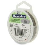 "Beadalon 7 Strand Beading Wire 0.15"" Diameter 30ft Spool (9.2 meters) - Bright"