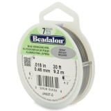 "Beadalon 7 Strand Beading Wire 0.18"" Diameter 30ft Spool (9.2 meters) - Bright"
