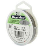 "Beadalon 7 Strand Beading Wire 0.21"" Diameter 30ft Spool (9.2 meters) - Bright"