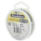 "Beadalon 19 Strand Beading Wire 0.21"" Diameter 30ft Spool (9.2 meters) - Bright"
