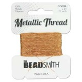 Beadsmith Metallic Thread 25 YD Card - Copper