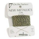 Beadsmith Metallic Thread 25 YD Card - Antique Gold