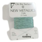 Beadsmith Metallic Thread 25 YD Card - Aquamarine
