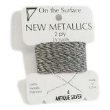 Beadsmith Metallic Thread 25 YD Card - Antique Silver