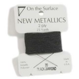 Beadsmith Metallic Thread 25 YD Card - Black Diamond