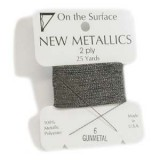 Beadsmith Metallic Thread 25 YD Card - Gunmetal