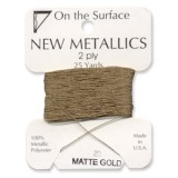 Beadsmith Metallic Thread 25 YD Card - Matte Gold