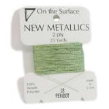 Beadsmith Metallic Thread 25 YD Card - Peridot
