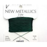 Beadsmith Metallic Thread 25 YD Card - Emerald