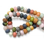 Mixed Stone 18mm Rondelle