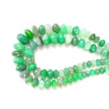 Green Agate 12x22mm Rondelle Facet