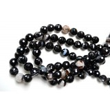 Black Agate 14mm Round Facet