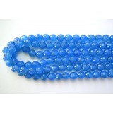 Blue Agate 10mm Round Facet