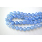 Blue Agate 16mm Round Facet