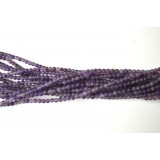 Amethyst 4mm Matt Round