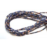 Orange Sodalite 4mm Round Facet