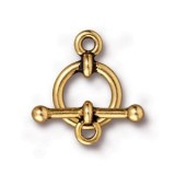 "TierraCast Antique Gold (Plated) 1/2"" Anna Clasp Set 17.75x12.25mm (1)"