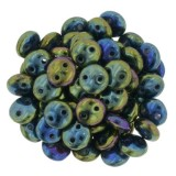 CzechMates Lentil 6mm - Iris Green (50 pcs)