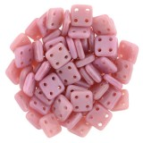 CzechMates Quadra Tile 6mm - Coral Pink (10gm)