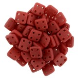 CzechMates Quadra Tile 6mm - Matte Opaque Red (10gm)