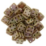 CzechMates Quadra Tile 6mm - Luster Opaque Rose Gold Topaz (10gm)