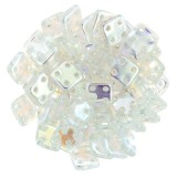 CzechMates Quadra Tile 6mm -  Crystal AB (10gm)