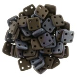 CzechMates Quadra Tile 6mm - Jet Matte Bronze Vega (10gm)