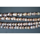 Freshwater Pearls 12x24mm Peanut Pearly Pink