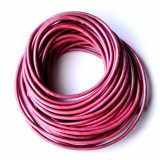 Leather Cord 1.5mm Round 5 Meters - Magenta