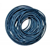 Leather Cord 2mm Round 5 Meters - Blue