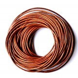 Leather Cord 1.5mm Round 5 Meters - Copper