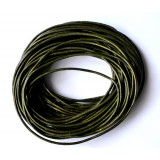 Leather Cord 1.5mm Round 5 Meters - Green