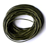 Leather Cord 1mm Round 5 Meters - Green