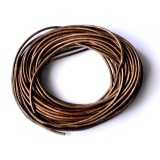 Leather Cord 1.5mm Round 5 Meters - Bronze