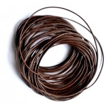Leather Cord 1.5mm Round 5 Meters - Tan