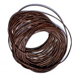 Leather Cord 1mm Round 5 Meters - Tan