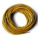 Leather Cord 1mm Round 5 Meters - Gold