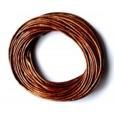 Leather Cord 1mm Round 5 Meters - Copper