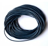 Leather Cord 1mm Round 5 Meters - Blue