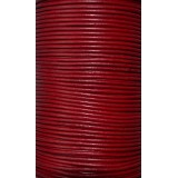 Leather Cord 2mm Round 5 Meters - Cherry Red